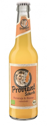 Proviant Schorle Orange & Maracuja Bio 24x0,33l