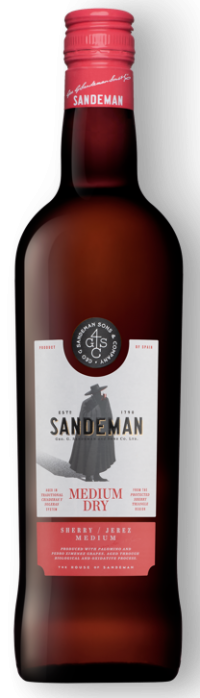 Sandemann Sherry Medium Dry 17,5% 6*0,75l- Flasche